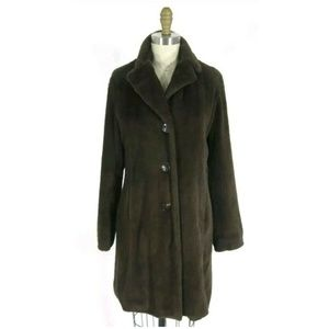 CAbi Fur Lined Pile Jacket Knee Length Trench Coat